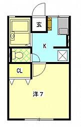 ファーストA[2階]の間取り