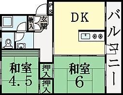 UR-久御山団地[3階]の間取り