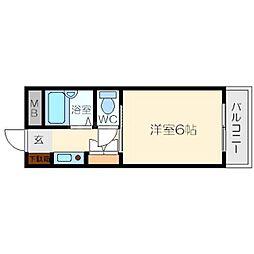 グレイスハイツ北大阪[2階]の間取り
