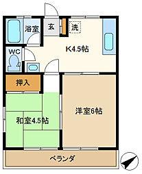 Sa・Ku・Ra 205[2階]の間取り