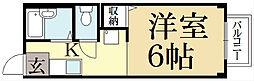京都府京都市左京区田中西樋ノ口町の賃貸アパートの間取り
