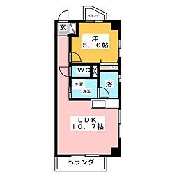 味仙第3マンション[3階]の間取り