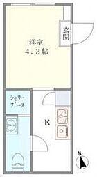 DEN OYAMA[2階]の間取り