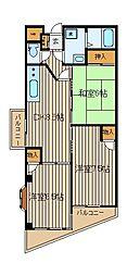 タカコービル[4階]の間取り