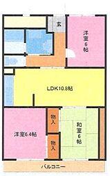 埼玉県さいたま市浦和区瀬ケ崎3丁目の賃貸マンションの間取り