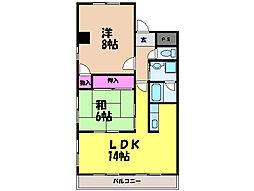 キャステール枝松・[3階]の間取り