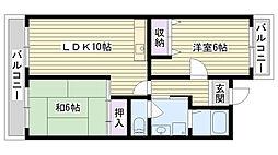大阪府大阪市鶴見区今津中5丁目の賃貸マンションの間取り