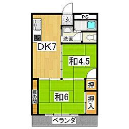 第一平木マンション[5階]の間取り
