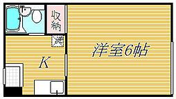 東京都目黒区鷹番2丁目の賃貸マンションの間取り