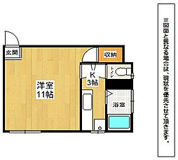 コーポ石田[3階]の間取り