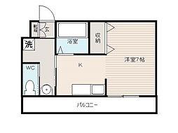 第3鈴江マンション[3階]の間取り