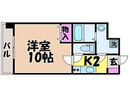 愛媛県松山市高砂町2丁目の賃貸マンションの間取り
