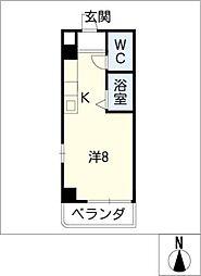 カーサ・キアラ[2階]の間取り