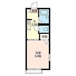 カーサケイ(東)[2階]の間取り