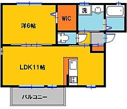 ドミールノア[2階]の間取り