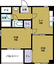 ハロー21[3階]の間取り