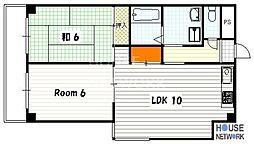 ハミング西浦[304号室号室]の間取り