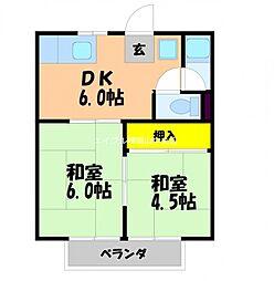 MIYAKEコーポB棟[1階]の間取り