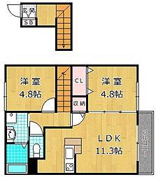 第II南レジデンス[1階]の間取り