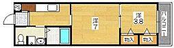 ViVi茶山 east[4階]の間取り