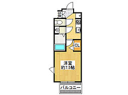 クリスタルグランツ難波II[13階]の間取り