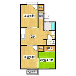 コーポ梅園[2階]の間取り