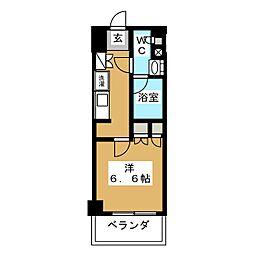 パークアクシス横濱大通り公園 10階1Kの間取り