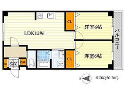 紙谷第2マンション[1階]の間取り