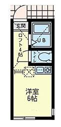 ユナイト 小田サン・ジョセップ[2階]の間取り