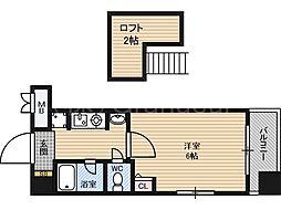 エステムコート大阪城前OBPリバーフロント[5階]の間取り