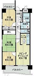 愛知県名古屋市中村区岩塚町3丁目の賃貸マンションの間取り