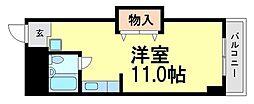 兵庫県尼崎市南武庫之荘1丁目の賃貸マンションの間取り