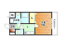 アスキコート[3階]の間取り
