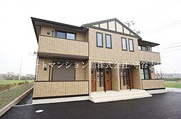 茨城県つくばみらい市富士見ヶ丘3丁目の賃貸アパートの外観