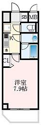 Osaka Metro堺筋線 天下茶屋駅 徒歩5分の賃貸マンション 8階1Kの間取り