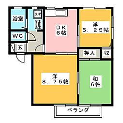 DIAS−1[2階]の間取り