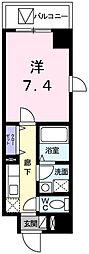 京急空港線 糀谷駅 徒歩13分の賃貸マンション 1階1Kの間取り