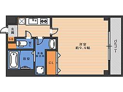 ジェンティーレ駒川 2階1Kの間取り