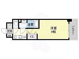 サムティ都島高倉町 4階1Kの間取り