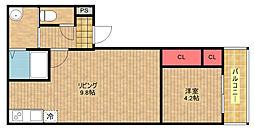 フジパレス北加賀屋ノース[2階]の間取り