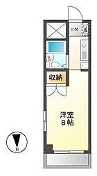 愛知県稲沢市正明寺1丁目の賃貸マンションの間取り