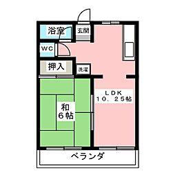 東野町佐藤ビル[2階]の間取り