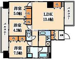 住真田山EAST[4階]の間取り