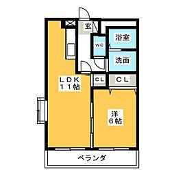 エスペランサII[2階]の間取り