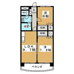 第5ジーオンビル[5階]の間取り