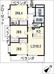 LandMark玉垣[5階]の間取り