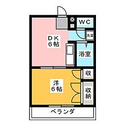 ハウスNO1[1階]の間取り