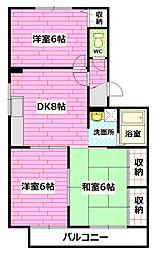 ハイドゥ伴II[2階]の間取り