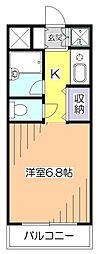 東京都小平市花小金井南町1の賃貸マンションの間取り