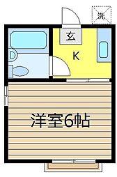 ホワイトパレスA・B[1階]の間取り